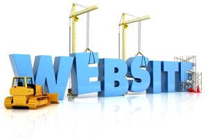 Website Text with Construction Equipment